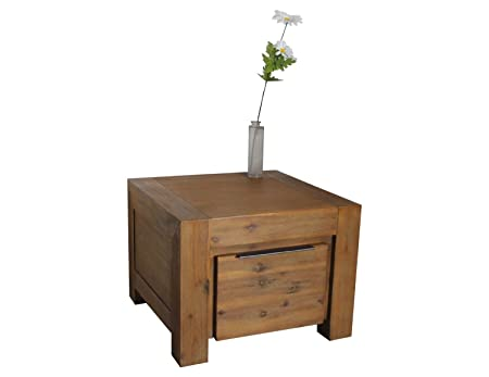 Couchtisch aus Massivholz 60 x 60 cm Wohnzimmertisch Tisch Florenz Massivholz Akazie