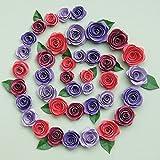 クイリング キット スパイラル ローズ-ブルゴーニュ/赤/紫/薄い紫色