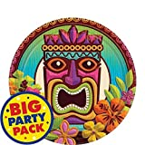 "Amscan Sun-Sational Summer Luau Party Tropical Tiki Round Plates (60 Piece), Multi Color, 7.2 x 7.2"""