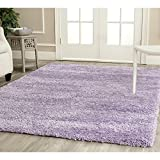 "Safavieh California Shag Collection SG151-7272 Lilac Area Rug, 3 feet 5 inches by 7 feet 6 inches (3'5"" x 7'6"")"