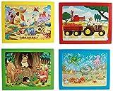 Riviera Games 76 6069 Casse tête Puzzle En Carton Lot De 4 Enfants