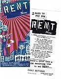 "Jonathan Larson ""RENT"" Idina Menzel / Adam Pascal / Taye Diggs 1996 Broadway Flyer"