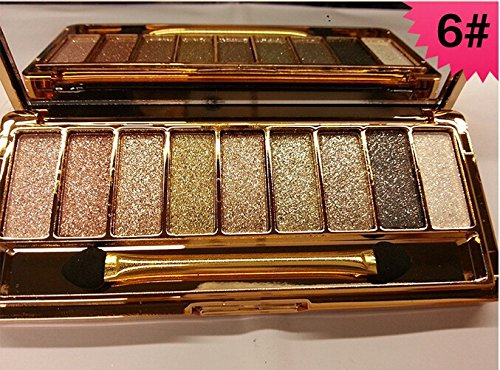 CTBeauty 9 Colors Diamond Bright Colorful Makeup Eye Shadow Set Flash Glitter Eyeshadow Palette with Brush,Edition 6 (Wet Eyeshadow Make Up compare prices)