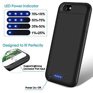 wholesale dealer 1eb86 ba42e iPhone 6 Plus 6s Plus Battery Case 6800mAh,TQTHL Extended ...