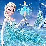 Gled® Frozen Flying Fairy Barbie Princess Elsa Doll Toys Helicopter Flight +Remote Sensing+led Light+music (Let It Go)
