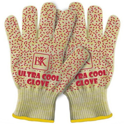 Cheapest Prices! Ultra Cool Oven & Barbecue BBQ Grill Gloves - Set of 2 - Heat Resistant to 662 ºF ...