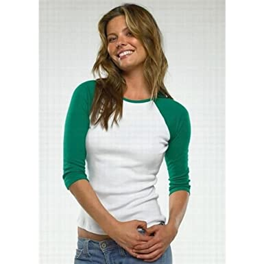 elbow sleeve baseball tee female
