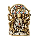 Redbag Five Headed Ganesha Brass Statue ( 15.24 Cm, 10.16 Cm, 4.45 Cm )