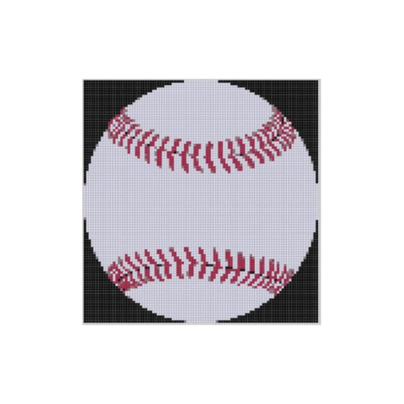 Baseball 2 Cross Stitch Pattern