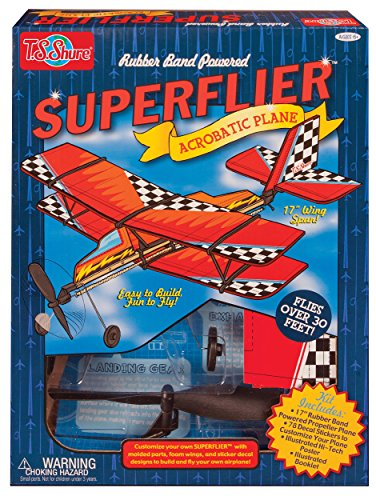 T.S. Shure Rubber Band Powered Super Flier Deluxe Acrobatic Plane Kit