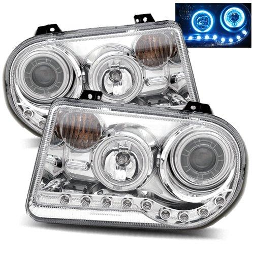 2005-2011 Chrysler 300 Ccfl Halo Headlights (Black)