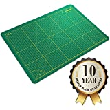 "Crafty World Pro Quality Cutting Mat 18 x 24""-60% Off Today - Sturdy Self Healing Mat is the Perfect Cutting Mat For All Arts & Crafts - Use Our Cutting Mats for Quilting, Sewing, Workshop or Any Other Craft or Hobby - 10 Year 100% Money Back Guarantee!"