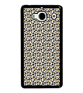 Fuson Premium 2D Back Case Cover Owl patterns With Blue Background Degined For Xiaomi Redmi 2S::Xiaomi Redmi 2::Xiaomi Redmi 2 Prime