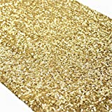 TRLYC Sequin Table Runner, 13 by 60-Inch Sequin Tablecloths, Gold
