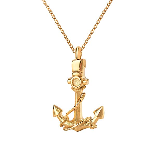 Cremation jewelry urn necklace anchor gold love memorial keepsake cremation jewelry urn necklace anchor gold love memorial keepsake ashes holder pendant funnel for ash aloadofball Gallery