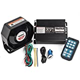 YHAAVALE 920 Car Amplifier Police Siren & Metal Ultra Slime Octagon Flat Speaker,DC12V 100W Multi-Tones Wireless Remote Control with Mic Loudspeaker Emergency Electronic PA System (Tamaño: 920U)