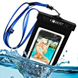 Kobert Waterproof Case (Deluxe) - Dry Bag For iPhone 6s, 6, 6 Plus, 5s, Samsung Galaxy s6, s6 Edge, s5, s4, Note 4, Every Cell Phone - Adj. Strap