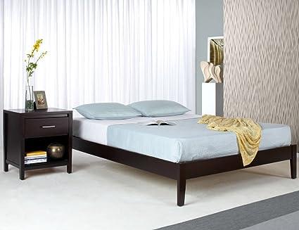 Modus Nevis 2 Piece Simple Platform Bedroom Set in Espresso