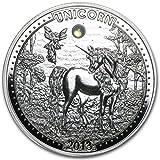 Unicorns Unicorn II 1000 CFA Francs Opal Silver Coin Cameroon 2013