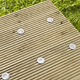 Solar Decking Lights & 1 Panel, 6 White LED, Stainless Steel by Lights4funby Lights4fun - Solar Lights