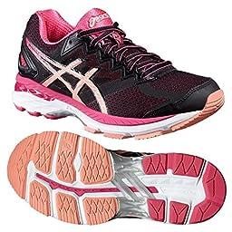 Asics GT-2000 4 Ladies Running Shoes, Color- Black/ Pink, US Shoe Size- 8.5 US / 6.5 UK