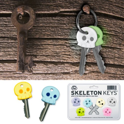 Skeleton Keys, Glow-In-The-Dark Key Toppers