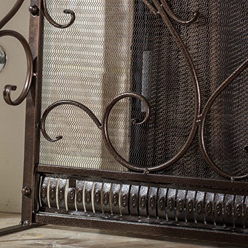 black iron fireplace screen. Adalia Black Brushed Gold Finish Wrought Iron Fireplace Screen By Great  Deal Furniture
