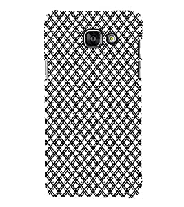 iFasho Modern Theme of black and white Squre lines Back Case Cover for Samsung Galaxy A5 A510 (2016 Edition)