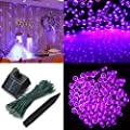1 Pcs Effective Modern 200x LED Solar Power Nightlight String Fairy Decorations Party Xmas Props Colors Pink
