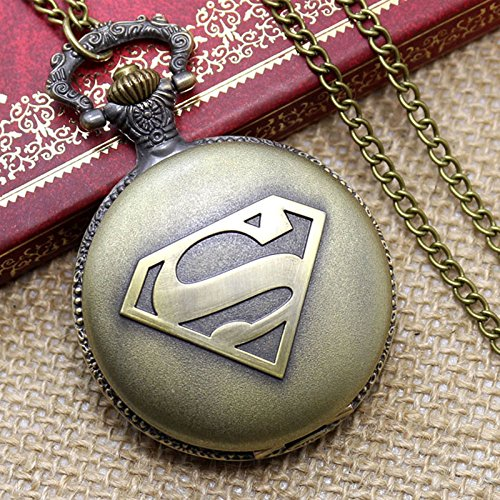 Fashion classic superman pocket quartz watch with chain (Classic Guitar Scale Chart compare prices)