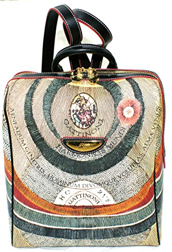 Gattinoni Donna Zaino Borsa Planetarium Backpack 12 Cm 28x32x13 Multicolore