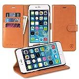 iPhone6s Plus ケース / iPhone6 Plus ケース 本革 手帳型 SHIELDON® iPhone 6s Plus/ iPhone 6 Plusカバー スタンド機能付き カードホルダー アイフォン6s Plus / アイフォン6 Plusマグネット式 ウォレット財布型 ブラウン