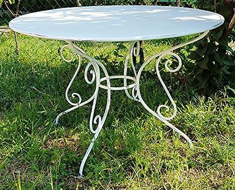 Casa Padrino Gartentisch aus Schmiedeeisen - verschiedene Farben - Ø115 cm x H75 cm - Luxus Gartenmöbel, Farbe:rost