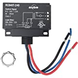 Aube RC840T-240 On/Off Switching Electric Heating Relay with Built-in 24 V Transformer (Color: Black)