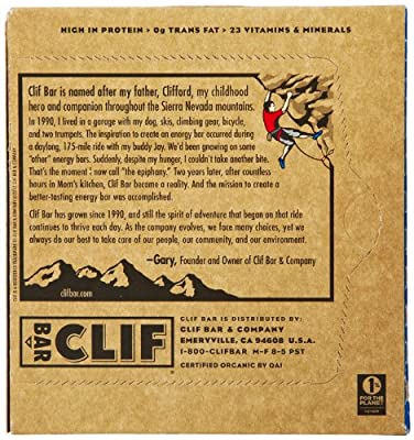 CLIF ENERGY BAR - Chocolate Chip - (2.4 oz, 6 Count)