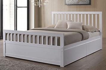 Delamere weiß Holz Aufbewahrung King Bett