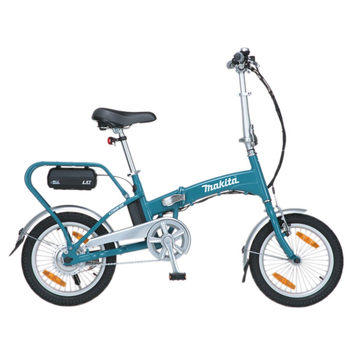 Una bicicleta eléctrica pequeña y plegable