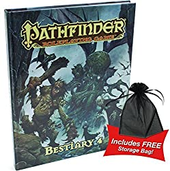 Pathfinder Roleplaying Game Bestiary 4 w/free storage bag