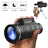 Monocular Telescopes 40x60 Splash Proof Compact Monocular for Hunting Bird Watching Camping Outdoor Sporting (2019 Upgraded Version) (Color: monocular 2019 New)