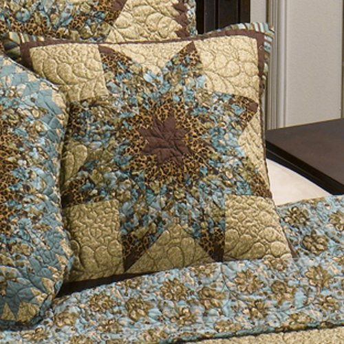 Donna Sharp Sea Breeze Star Quilted Cotton Star Throw Pillow