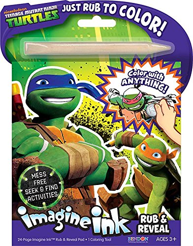 Bendon Publishing TMNT Imagine Ink: Rub and Reveal Book Playset - 1