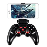 LESHP Wireless Bluetooth Gamepad Game Controller Ergonomic Design Angle-adjustable Rechargeable Battery Flexible Clamp Bluetooth Gamepad Joystick for