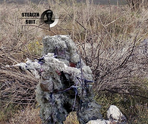 Paintball Sniper 4-Piece Desert Ghillie Suit