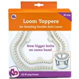 Authentic Knitting Board KB8360 60 Peg Loom Toppers, use with Rotating (Color: Use With Rotating Loom)