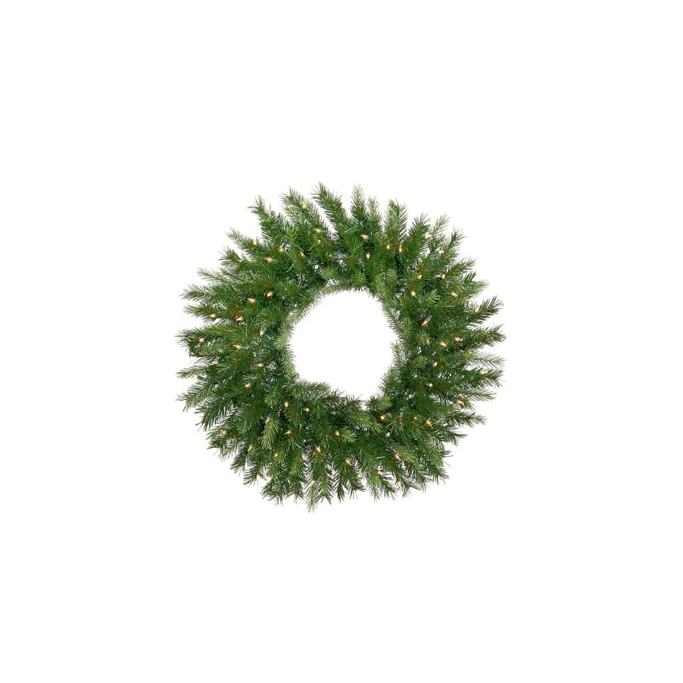 6 Pre Lit Tiffany Spruce Artificial Christmas Wreath   Clear Lights