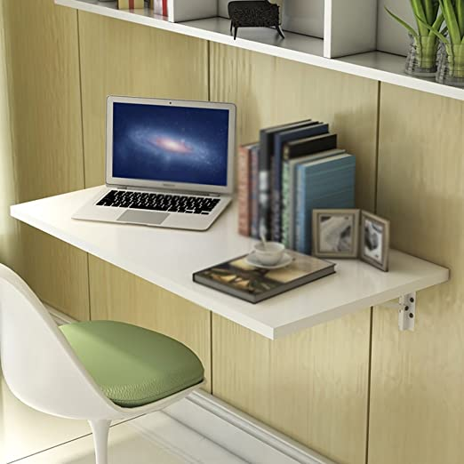 HWF Mesa plegable de pared Escritorio De La Computadora Colgadura De La Pared Plegable Aprendizaje Tablas Tabla De La Pared Del Cuaderno Blanco ( Color : Blanco , Tamaño : 100*50cm )