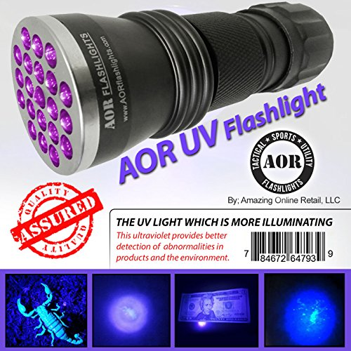AOR Flashlights UV FLASHLIGHT | ULTRAVIOLET FLASHLIGHT – LED UV Blacklight