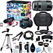 Canon EOS Rebel T5i Video Creator Kit w/ Lens, Rode VideoMic, 32GB Card Deluxe Bundle includes EOS Rebel T5i Camera, 18-55mm Lens, 75-300mm Lens, Tripod, Bag, 55mm Filters, Beach Camera Cloth + More!