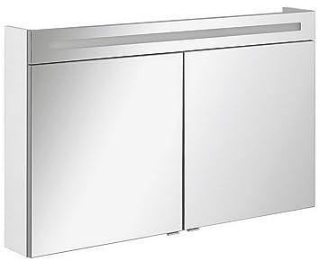 Fackelmann B. Clever LED specchio armadio due ante (120cm) Bianco