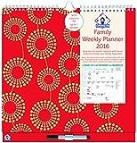Organised Mum 2016 Family Weekly Planner (s'étend d'aujourd'hui à décembre 2016) calendrier avec des colonnes pour 6 personnes et des fonctionnalités d'organisation